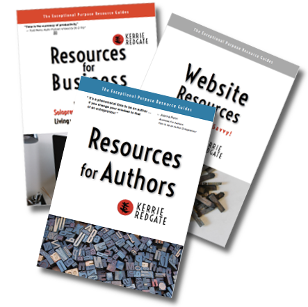 Exceptional Purpose Resource Guides by Kerrie Redgate