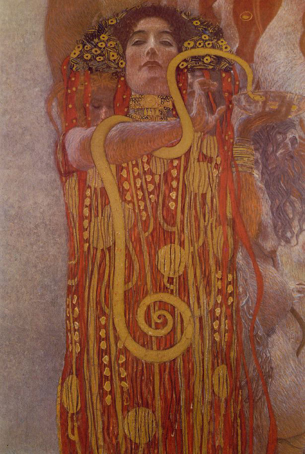 Hygeia painting (cameo) by Klimt