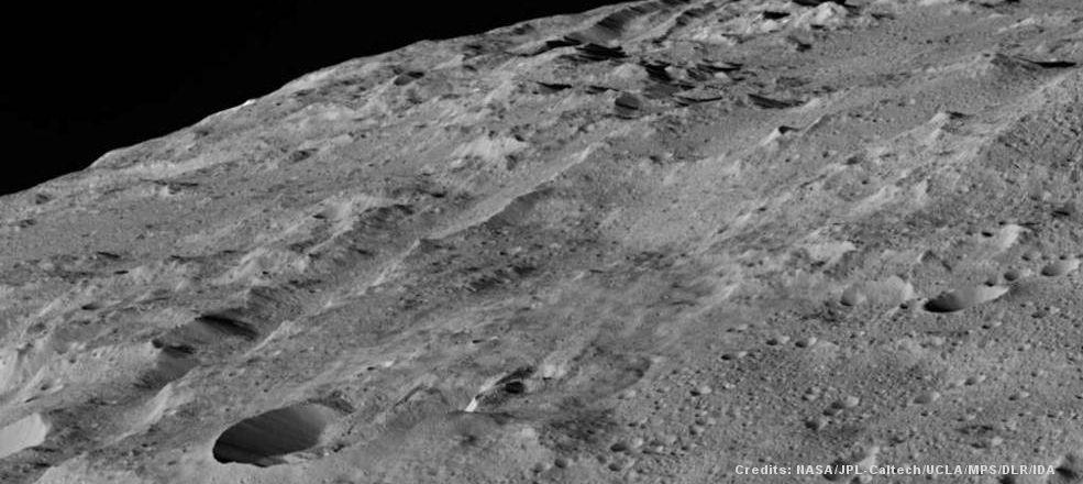 slice of Ceres asteroid via NASA/JPL/Caltech