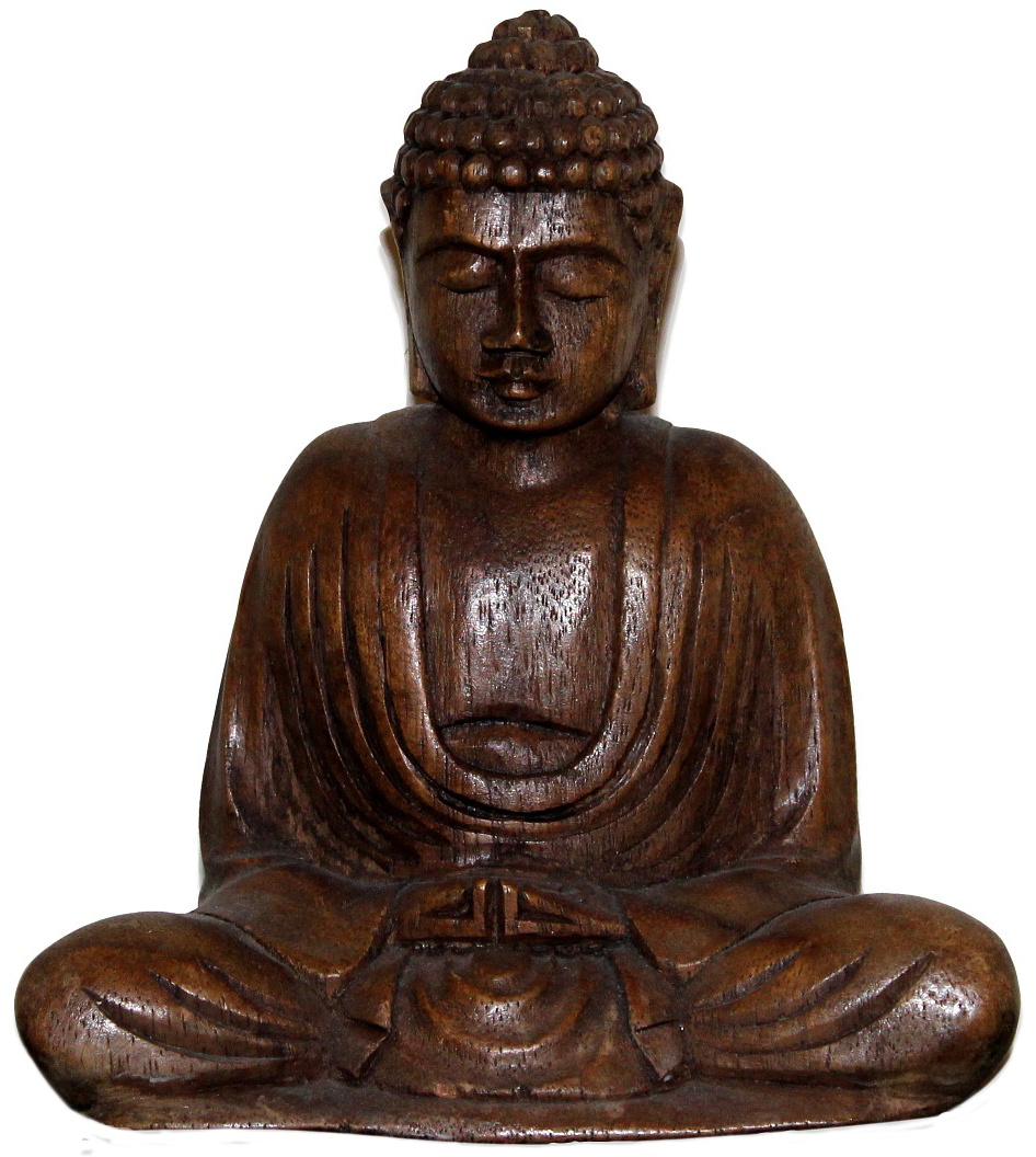 Wooden Buddha photo by Lisa Baker via Pixabay